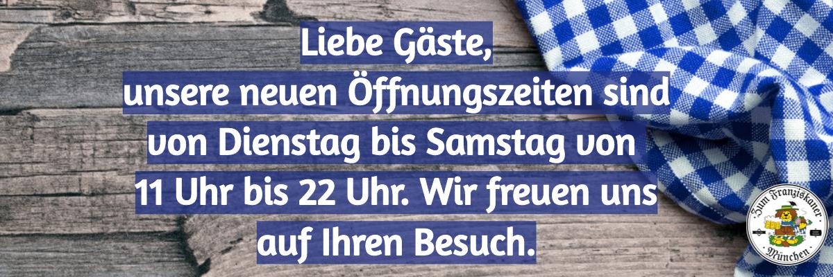 Zum Franziskaner München Öffnungszeiten