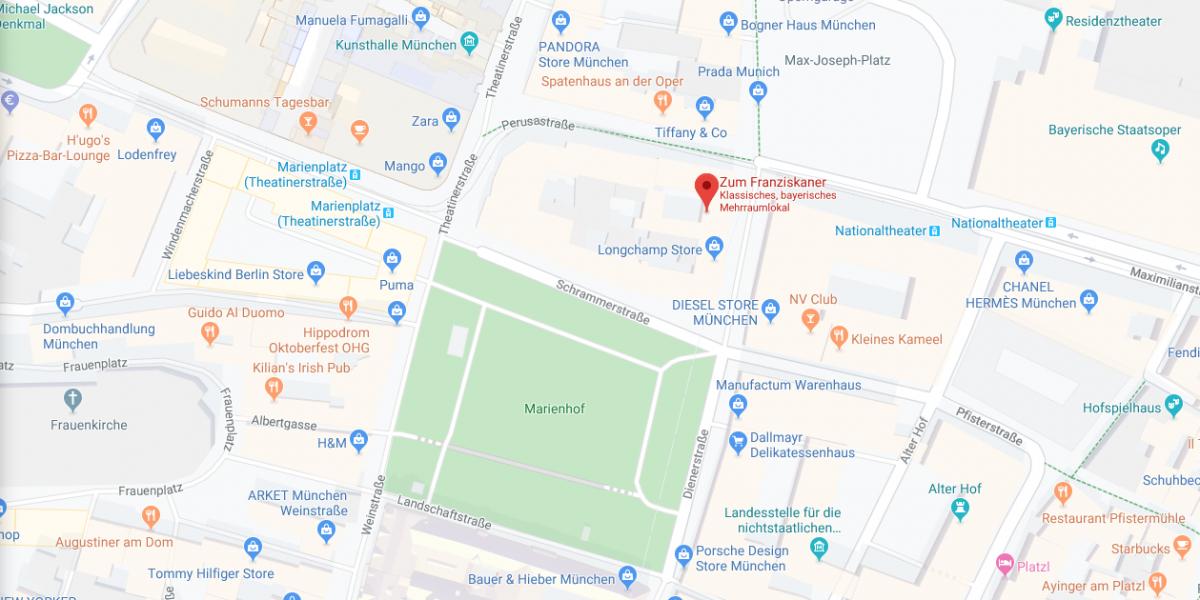 How to get here - Zum Franziskaner Munich