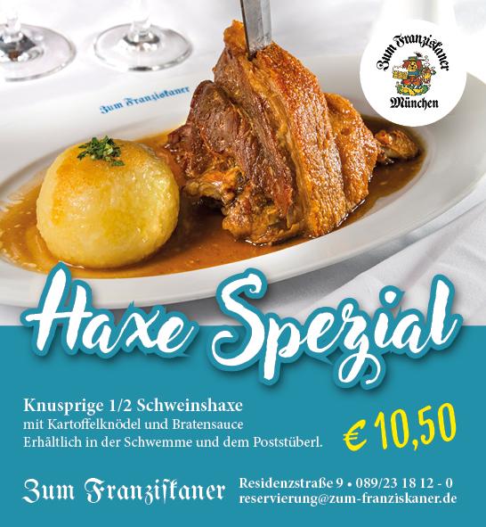 Schweinhaxe Haxe Spezial Zum Franziskaner München